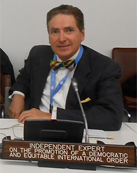 Alfred de Zayas at the UN General Assembly on 2nd November