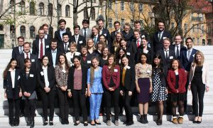 Group photo of the participants in the UN simulation